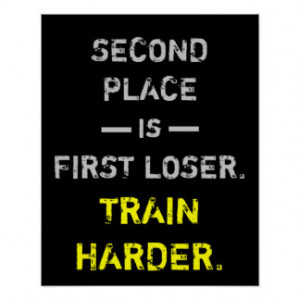 Train Harder Inspirational Motivational Quote Posters