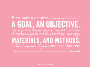Silver Lining Quotes: A Goal, An Objective by Aristotole - The