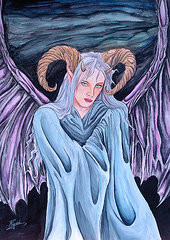 Fallen Angel Drawings - Succubus by Annette Redman