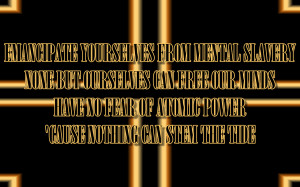 Redemption Song - Rihanna Song Lyric Quote in Text Image