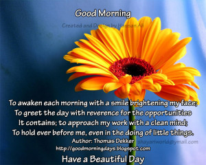 Good Morning Thoughts for 01-06-2010