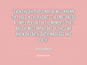 Jacqueline Kennedy Death Quote