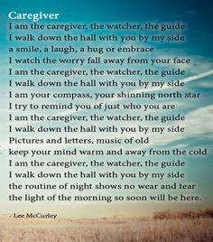 Poem: Caregiver by Lee McCurley #alzheimers #tgen #mindcrowd www ...