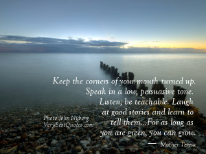 ... Laugh at good stories and learn to tell them..― Mother Teresa Quotes