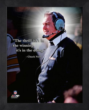 Pittsburgh Steelers Chuck Noll Framed Pro Quote