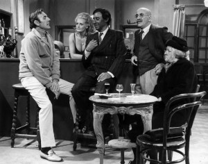 1970: A scene from an election night special featuring Warren Mitchell ...