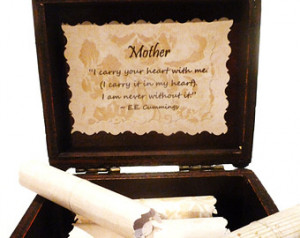 Mother Scroll Box - Gift Box of 20 sentimental quotes about mothers! A ...