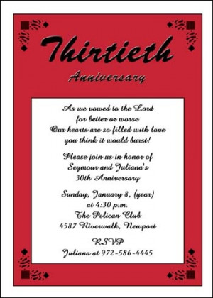 30th Anniversary Invitation areBecoming Very Popular