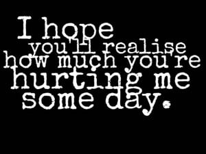 Hurting Heart Quotes Hurting me sad love quote