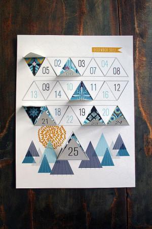 Modern Advent Calendar Printable PDF by JhillDesign on Etsy, $3.00
