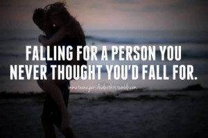 Unexpected love quotes him