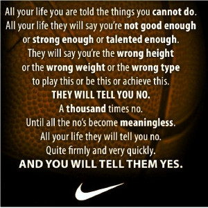 nike quotes for athletes inspirational sports quotes nike quotes ...