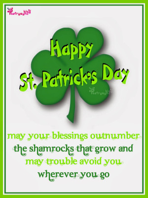 St Patrick's Day Wishes eCards Irish with Sayings