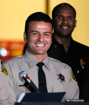 Los Angeles County Reserve Deputy Sheriff Shervin Lalezary (right ...