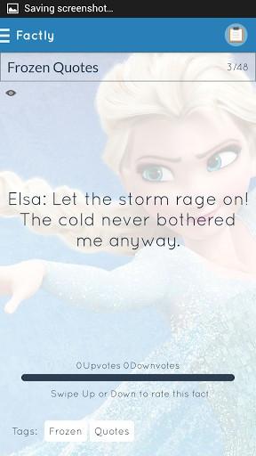 Frozen Quotes Screenshot 4