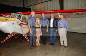 Chesley Sullenberger Jeffrey Skiles Harrison Ford And Tom Poberenzy ...