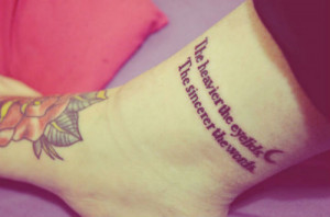 quotes tattoos on tattoo placement ankle quote tattoos quote ankle ...
