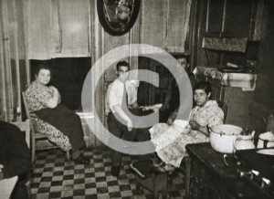 Residents of a tenement, Henry Street, Lower East Side, Manhattan, New