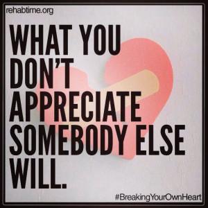 What you don't appreciate