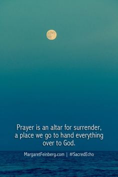 an altar for surrender, a place we go to hand everything over to GOD ...
