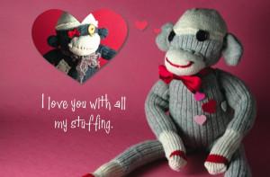 Sock Monkey Valentines