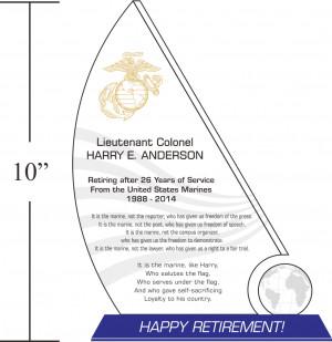 Sample Marine Corps Retirement Quotes (#317-1)