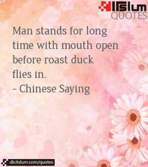 Man stands for long time with mouth open before roast duck flies in.