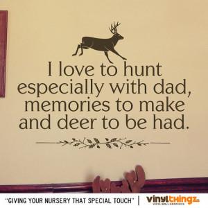 Wall Decals Nursery Hunting Deer Baby Childrens Room To go to sleep ...