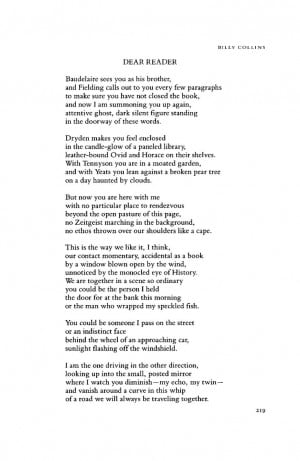 January 1994 : Poetry Magazine BILLY COLLINS