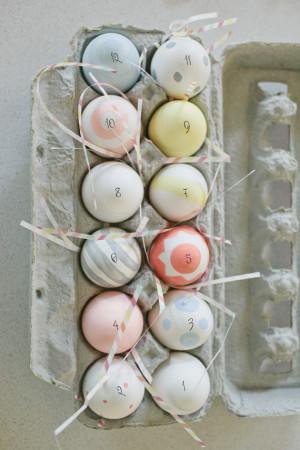 Uma dúzia de Páscoa Ovos Contagem regressiva
