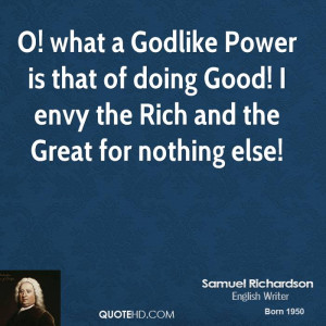 Samuel Richardson Power Quotes