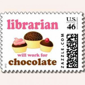 Awesome chocolate fun on a librarian