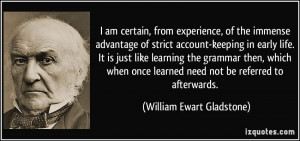 am certain, from experience, of the immense advantage of strict ...