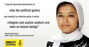 political games, and establish an effective policy in which refugees ...