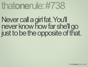 ... You'll never know how far she'll go just to be the opposite of that