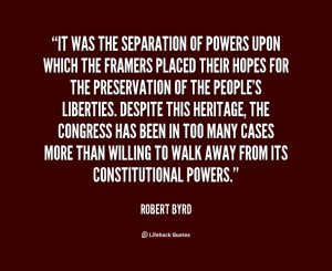 Separation Quotes For You: It Was The Separation Of Powers Quote With ...