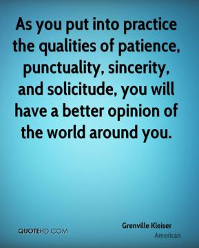 Grenville Kleiser - As you put into practice the qualities of patience ...