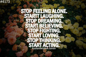 Felt, well be lonely watch this How to Stop Feeling Alone quot ,you ...