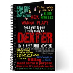 ... serial killer journals spiral notebooks best dexter quotes journal