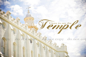 LDS Temple Fine Art Print Saint George Utah