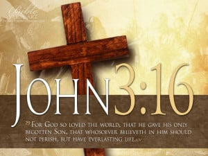 John 3:16 Bible Verse With Cross HD Wallpaper