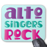 Pretty Alto Singers Rock Gift Mouse Pad