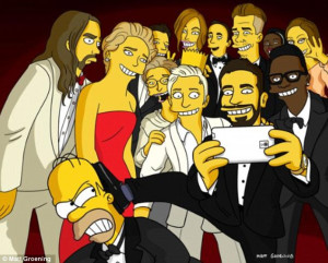Ugly true story of that Oscar selfie': The Simpsons creator shares ...
