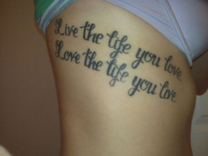 short inspirational quotes for tattoos inspirational quote love tattoo ...