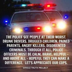 Hand Painted Police Poem / Prayer Sign