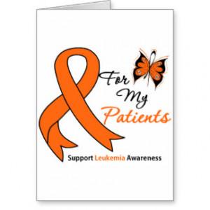 Leukemia I Wear Orange For My Patient Gifts