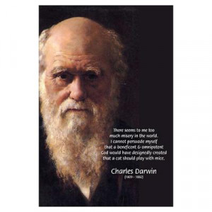 CafePress > Wall Art > Posters > Charles Darwin: God Creation Poster
