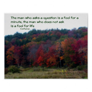 Autumn Foliage Field Inspirational Quote Poster
