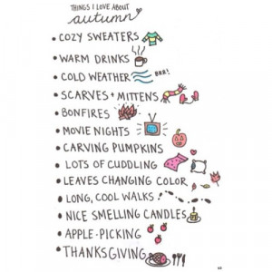 ... leaves changing color long and cool walks nice smelling candles apple
