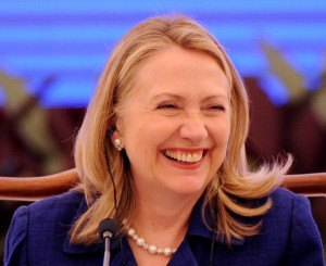 image of Hillary Clinton, smiling